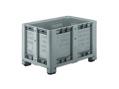 Pallet boxes with ventilated walls