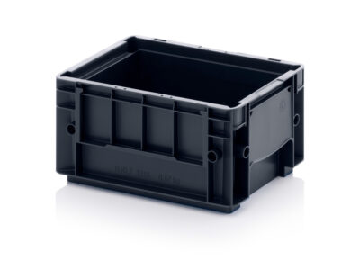 Stackable plastic containers VDA ESD R-KLT