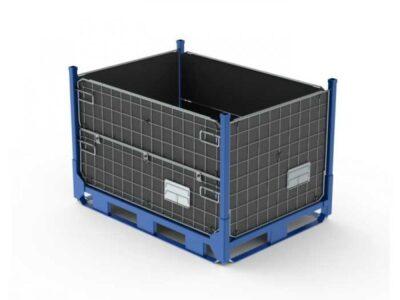 Containere metalice cu pereţi din sârmă, tip mesh