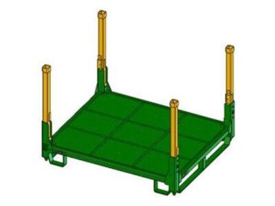Containere tip platformă, cu laturile complet deschise şi stâlpi în cele 4 colţuri