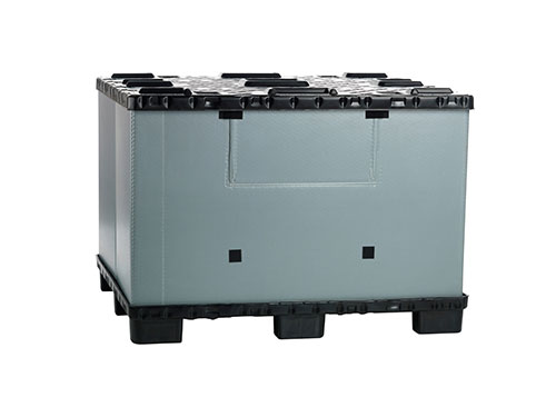 Foldable large flatpac container with lid FLCL1412-5735