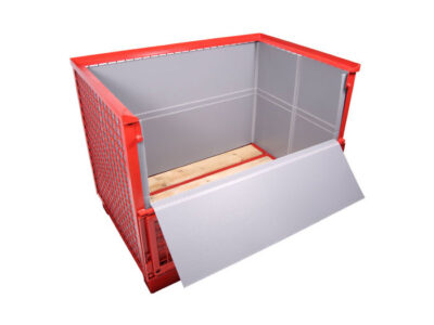 standard automotive containers with compact boards placed inside