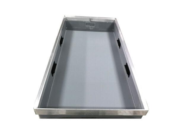 Alveoplast box with aluminum h frame