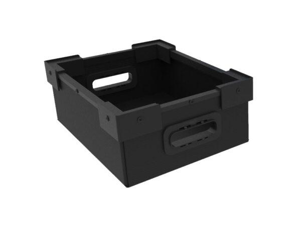 Cartonplast boxes with plastic corners and polypropylene U frame