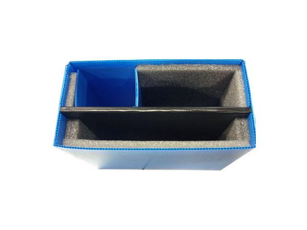 Cartonplast internal separators laminated with XLPE foam