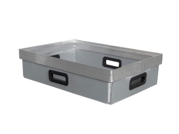 Cellular polypropylene box with aluminum h frame