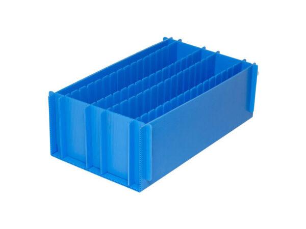 Corrugated plastic separators