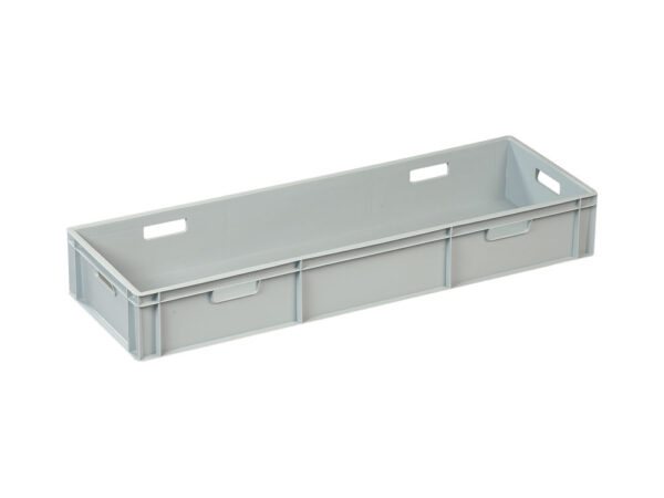 Cut & weld – stackable box with open handles