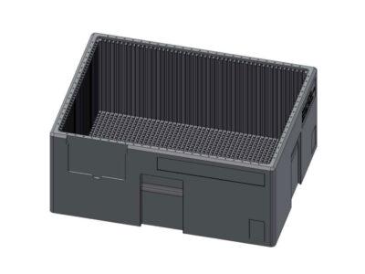 Cutii şi inserturi customizate pentru transport componente electronice