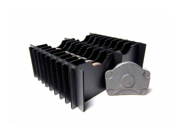Folding corrugated plastic separators