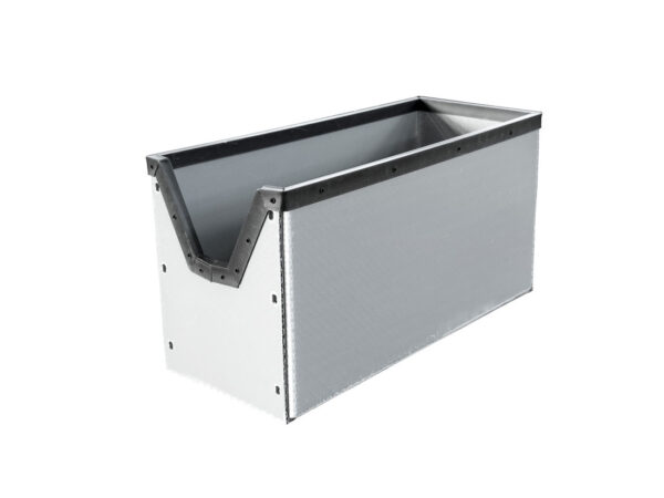 PP cellular box with U frame from plastic and front access