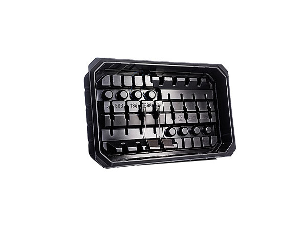 Thermoformed trays for intensive use