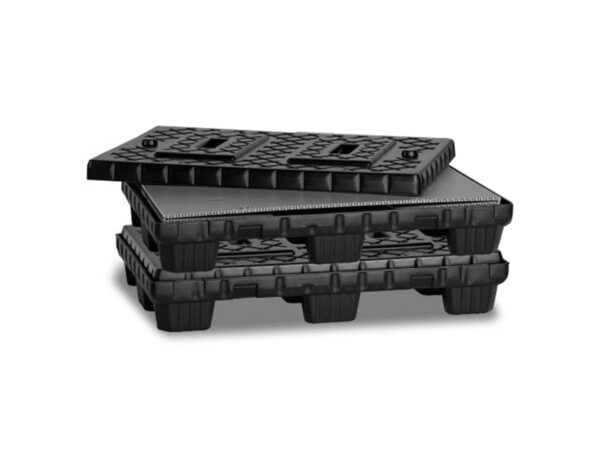 Twin sheet pallet for flatpac system