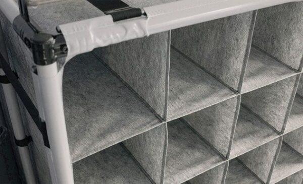 Separatoare textile pentru boxpaleţi, aprovizionate orizontal