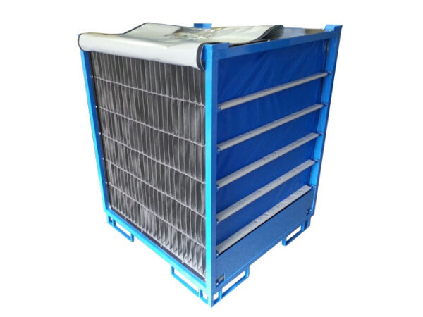 Textile pallet dividers, supplied horizontally