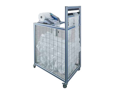 Movable container, sensors included