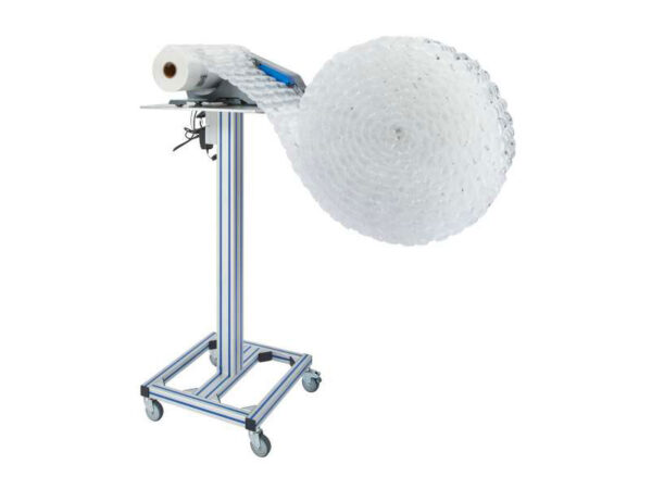 Movable unit for air cushions rolls