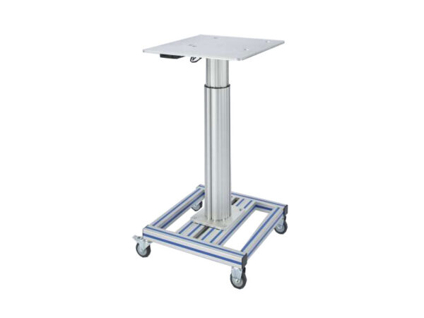 Movable workstation with adjustable height